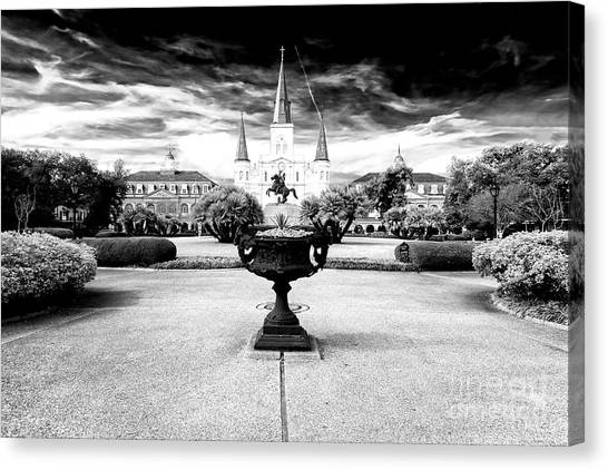 St. Louis Cathedral Drama Canvas Print