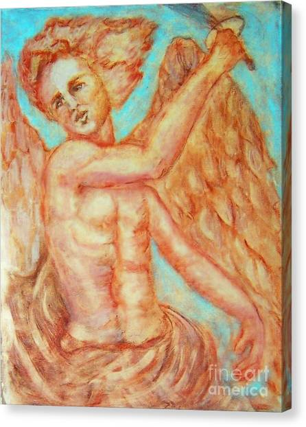 St. Michael The Archangel Canvas Print by Suzanne Reynolds