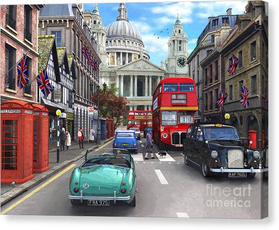 European City Canvas Print - St Paul's Cathedral by Dominic Davison