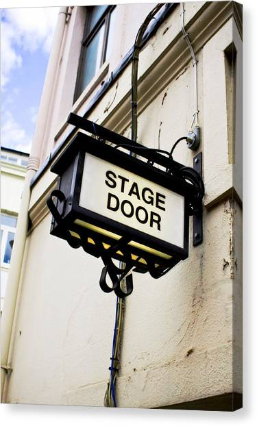 Careers Canvas Print - Stage Door Sign by Tom Gowanlock