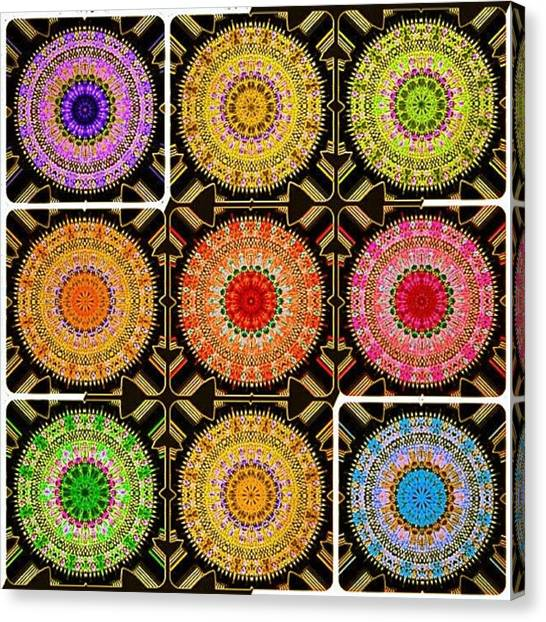 Meditation Canvas Print - Stained Glass Refractals by Nick Heap