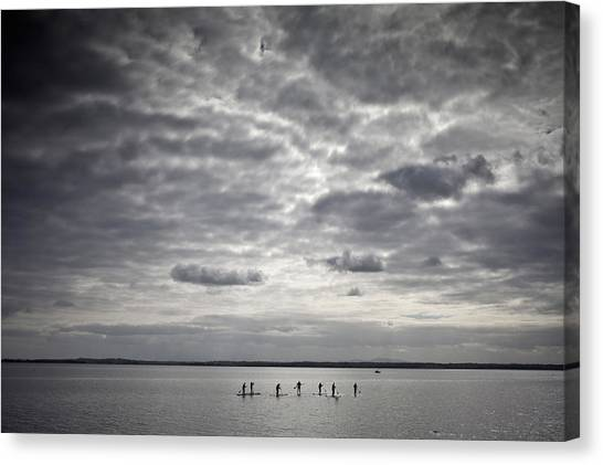Renovation Canvas Print - Stand-up Paddle Boarders On Strangford by Panoramic Images