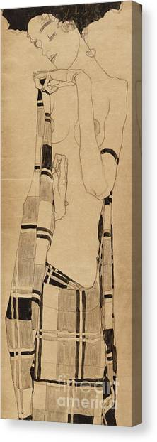 Fabric Canvas Print - Standing Girl by Egon Schiele