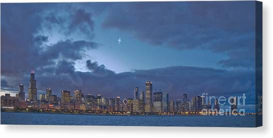 Star Over Chicago Canvas Print by Jim Wright