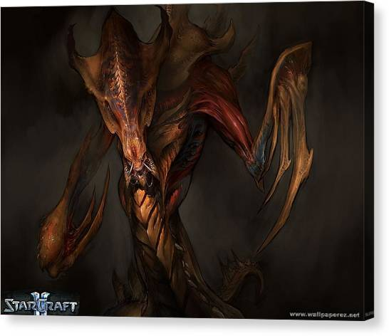 Saddles Canvas Print - Starcraft II Wings Of Liberty by Super Lovely