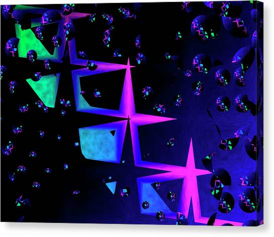 Contemporary Art Canvas Print - Stars by Contemporary Art