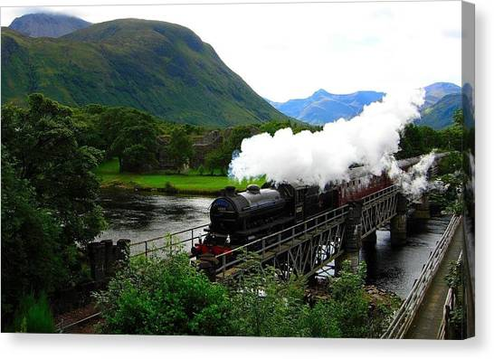 Steam Trains Canvas Print - Steam Train by Mariel Mcmeeking