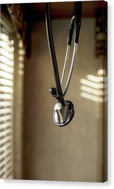 Obamacare Canvas Print - Stethoscope At Rest by Hutch Stilgenbauer
