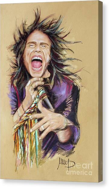 Aerosmith Canvas Print - Steven Tyler by Melanie D