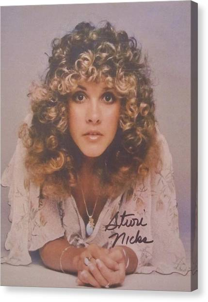 Stevie Nicks Canvas Print - Stevie Nicks by Donna Wilson
