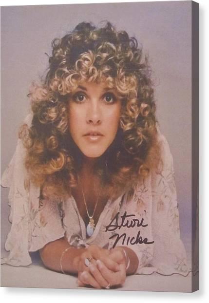 Mac Canvas Print - Stevie Nicks by Donna Wilson