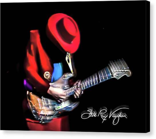Stevie Ray Vaughan - Texas Flood Canvas Print