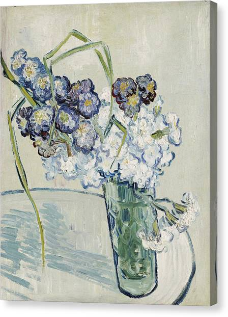 Wedding Bouquet Canvas Print - Still Life, Vase Of Carnations by Vincent Van Gogh