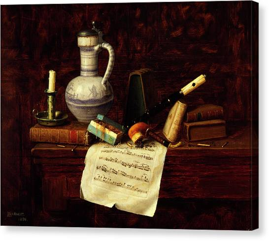 Music Genres Canvas Print - Still Life by William Michael Harnett