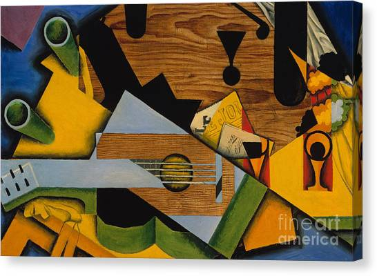 Pablo Picasso Canvas Print - Still Life With A Guitar by Juan Gris