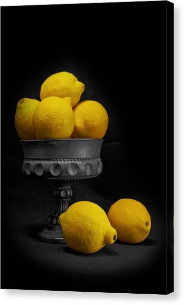 Fresh-picked Canvas Print - Still Life With Lemons by Tom Mc Nemar