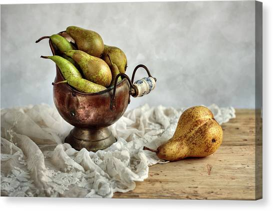 Weights Canvas Print - Still-life With Pears by Nailia Schwarz