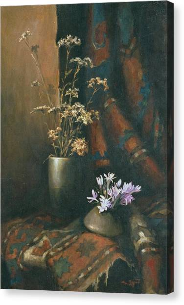 Still-life With Snow Drops Canvas Print