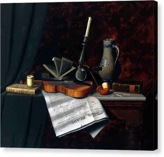 Munich Canvas Print - Still Life With The Toledo Blade by William Michael Harnett