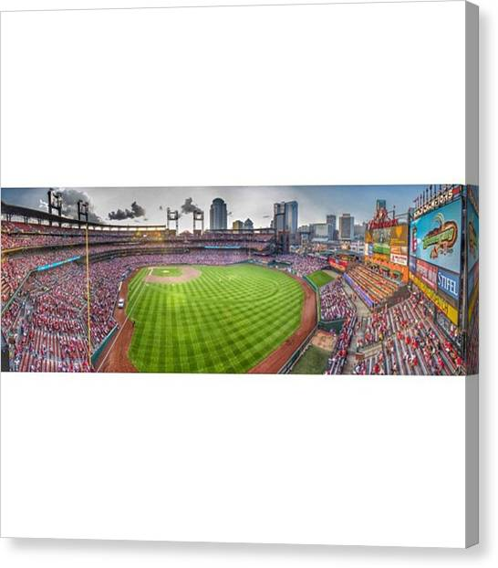Baseball Canvas Print - #stl #stlcards #stlouis by David Haskett II