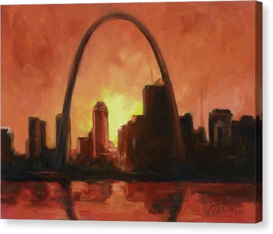 Canvas Print - St.louis Downtown - Sunset by Irek Szelag
