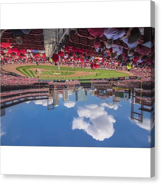 Baseball Canvas Print - #stlouiscardinals #stlouis by David Haskett II
