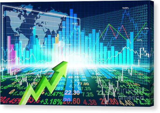 Stock Market Concept Canvas Print