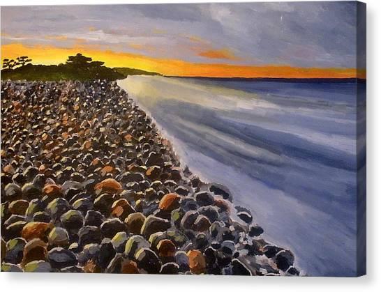 Stony Beach Canvas Print by Mats Eriksson