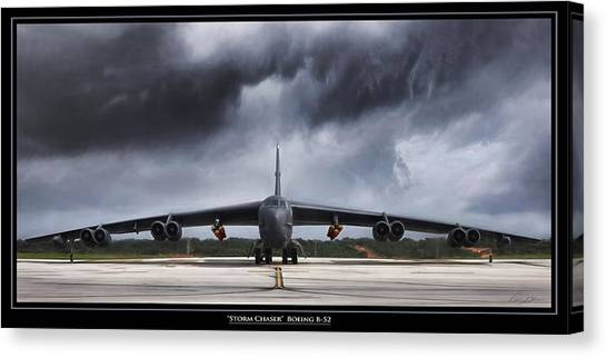 Linebackers Canvas Print - Storm Chaser by Peter Chilelli