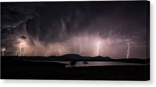 Forked Lightning Canvas Print - African Storm by Tim Booth & Forked Lightning Canvas Prints | Fine Art America