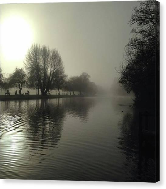 Warwickshire Canvas Print - River Avon At Stratford. by John S