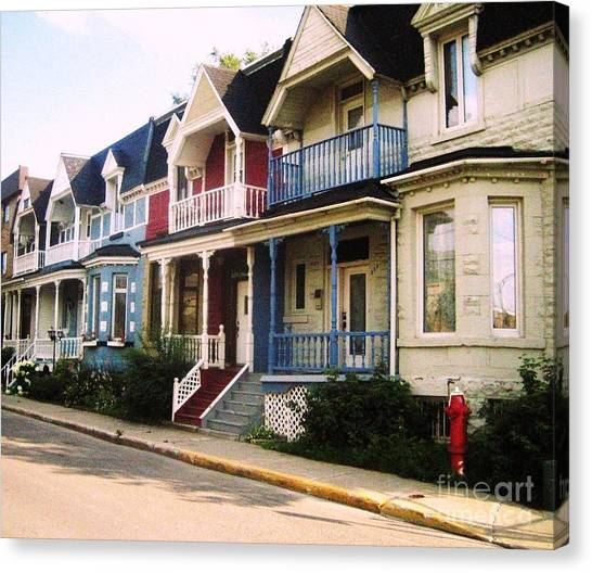 Streets Of Montreal Canvas Print by Reb Frost