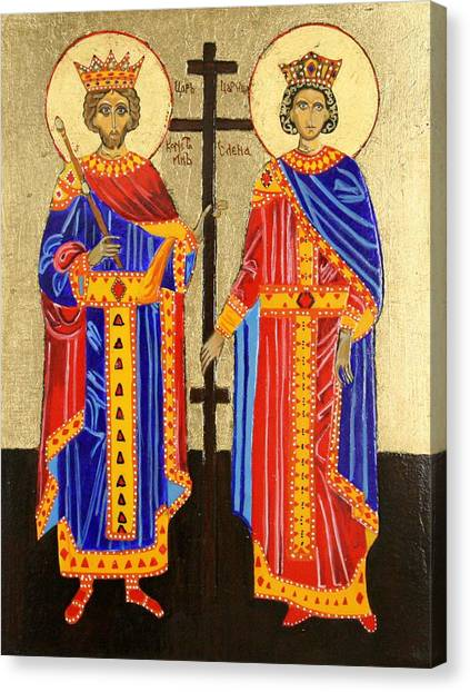 Sts. Constantine And Helen Canvas Print by Amy Reisland-Speer