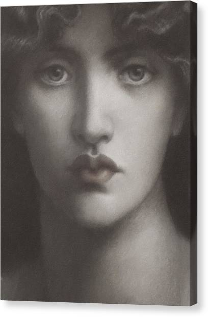 Study Of Jane Morris Canvas Print