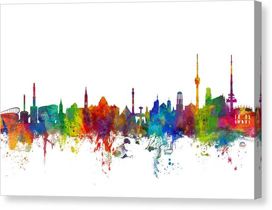 German Canvas Print - Stuttgart Germany Skyline by Michael Tompsett
