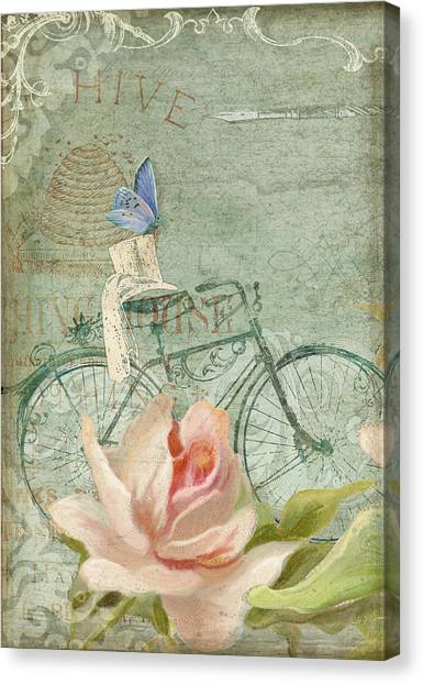 Victorian Garden Canvas Print - Summer At Cape May - Bicycle by Audrey Jeanne Roberts