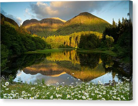 Summer Reflections In Glencoe Canvas Print