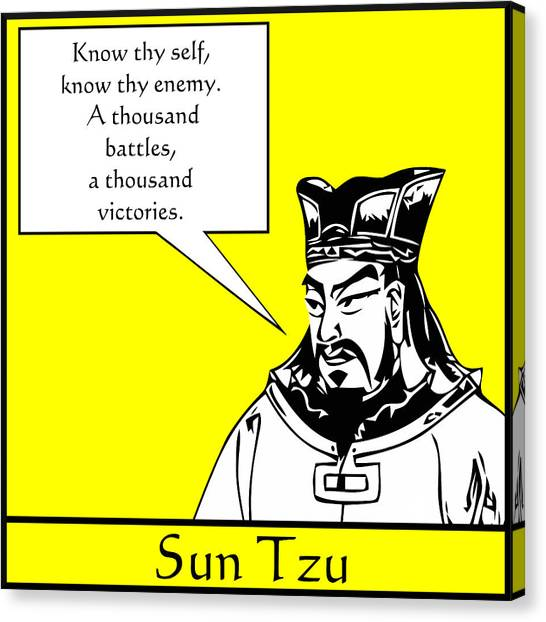 Ancient Art Canvas Print - Sun Tzu by War Is Hell Store