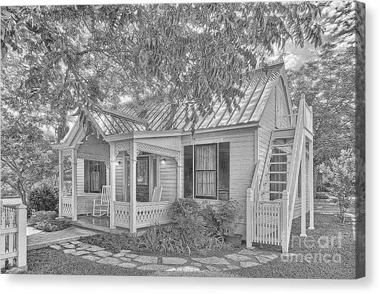 Sunday House Cottage Canvas Print