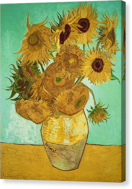 Sunflowers Canvas Print - Sunflowers By Van Gogh by Vincent Van Gogh