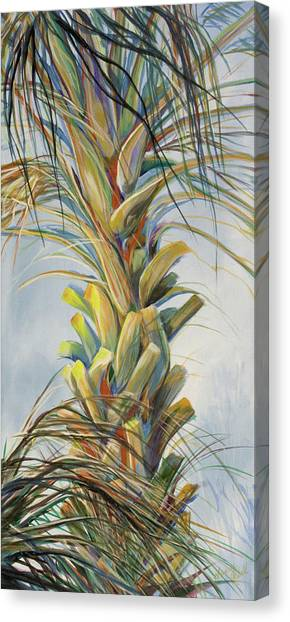 Sunlit Palm Canvas Print by Michele Hollister - for Nancy Asbell