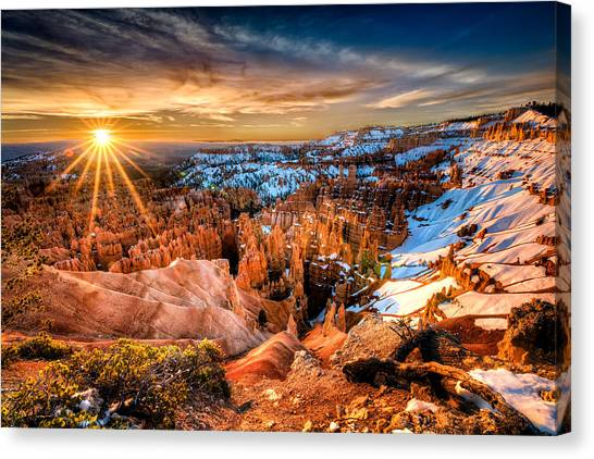Sunrise At Bryce Canvas Print