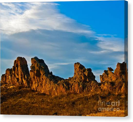 Sunrise At Devil's Backbone Canvas Print