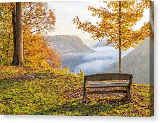 Sunrise At Humphrey's Overlook Canvas Print