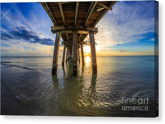Sunrise Naples Pier Florida Canvas Print