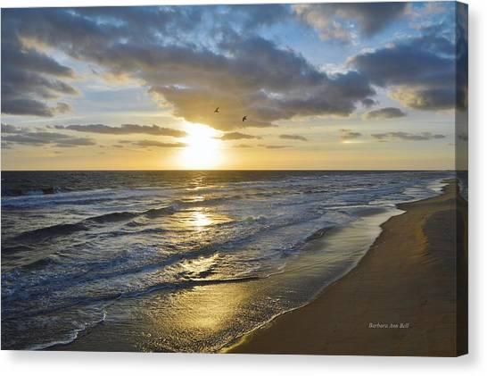 Sunrise On The Banks  Canvas Print