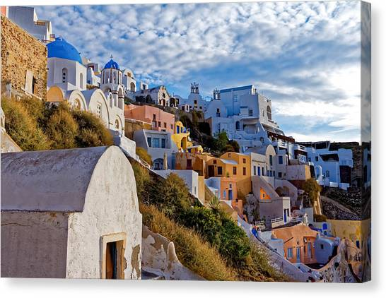 Sunrise Over Oia Canvas Print