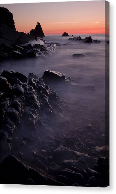 Sunset At Blegberry Beach Canvas Print