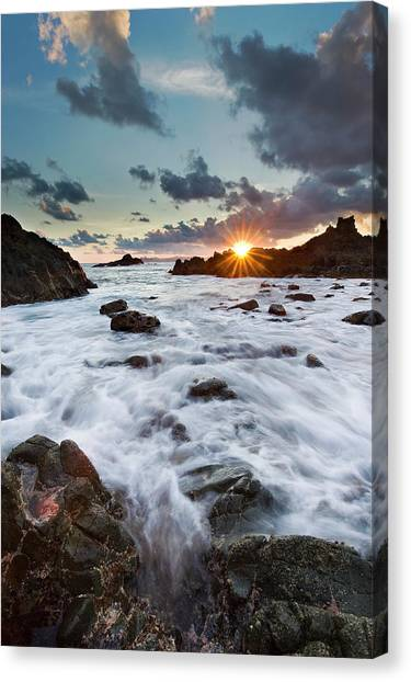 Sunset At Lombok Canvas Print