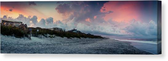 Sunset Emerald Isle Crystal Coast Canvas Print